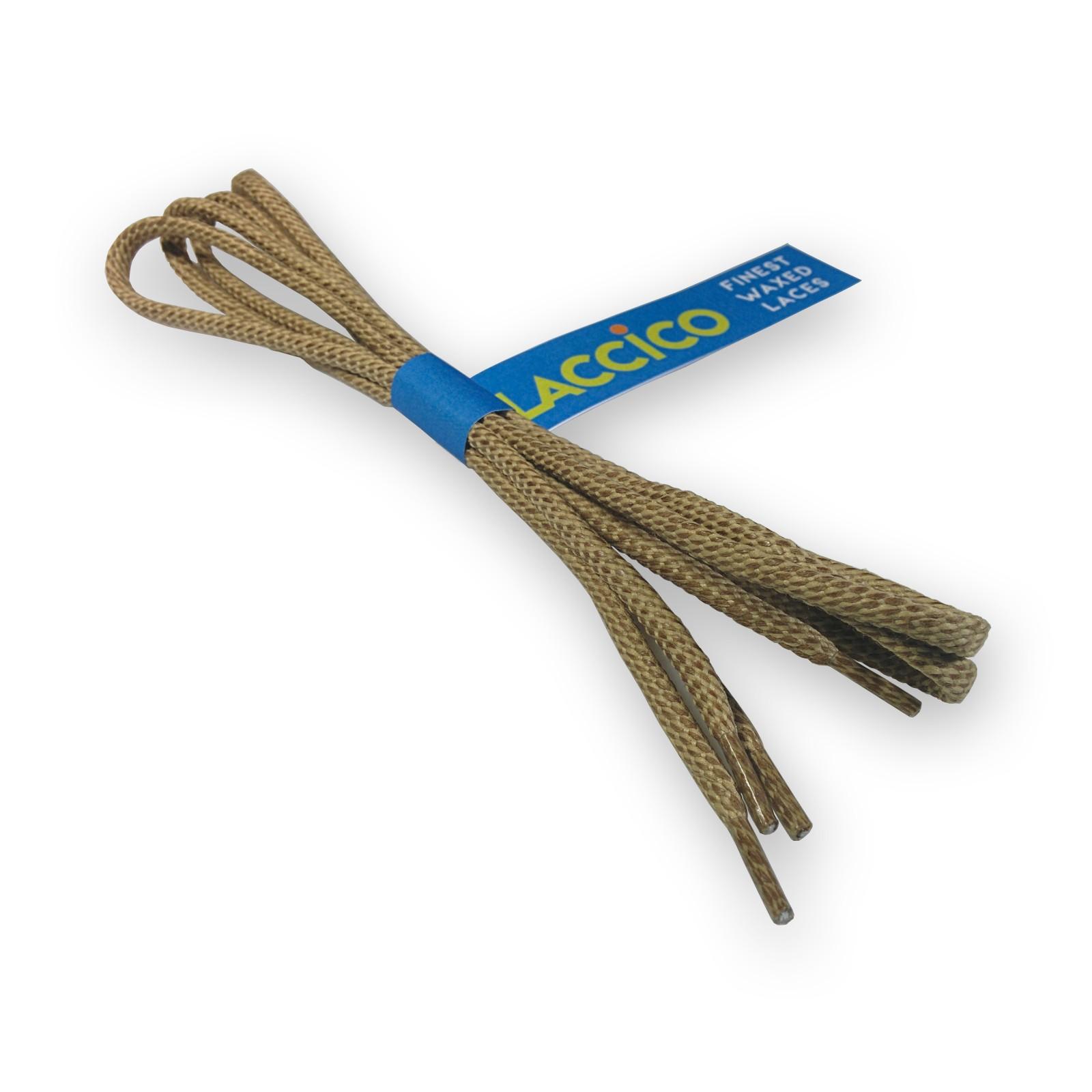 LACCICO® Beige Round Waxed Shoelaces Diameter Ø 4.0 mm 'Cerato'