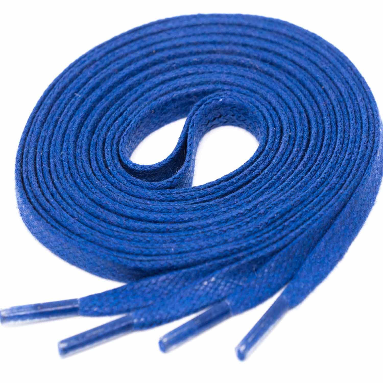 ROYALBLAU Flat Waxed Shoelaces width 4 mm