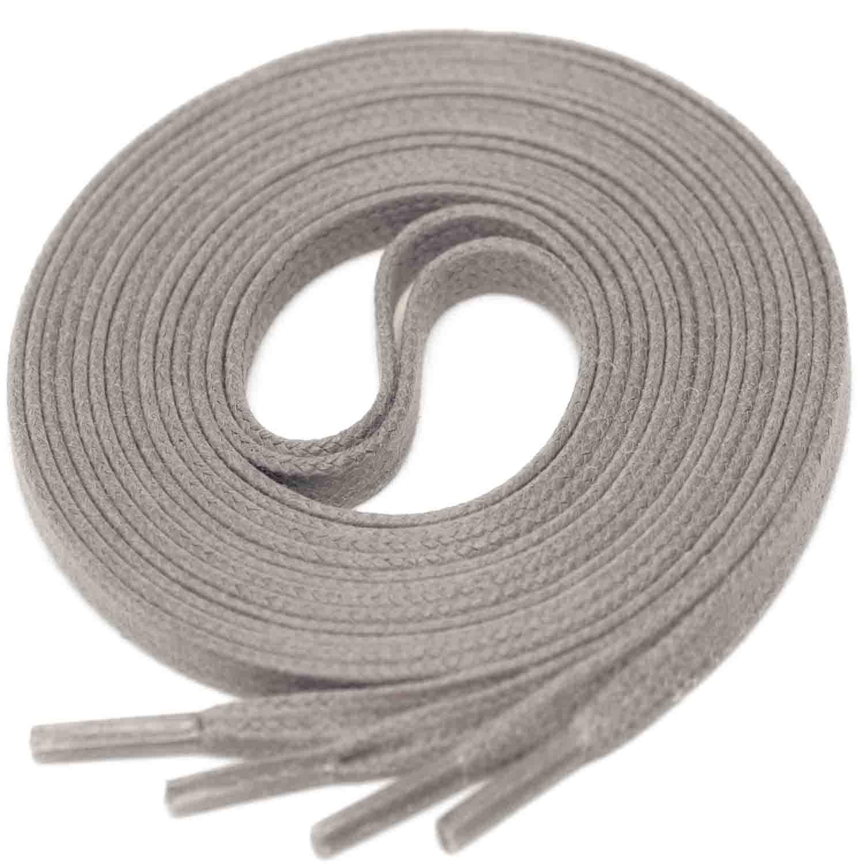 d99b15345c0bb MEDIUM GREY Flat Waxed Shoelaces width 4 mm 516